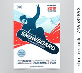 snowboarding championship flyer.... | Shutterstock .eps vector #746582893