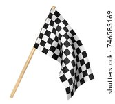 Finish Flag Isolated On A Whit...