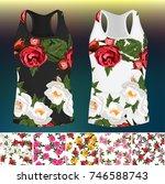 trendy fashion rose design. 5...   Shutterstock .eps vector #746588743