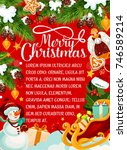 merry christmas design for... | Shutterstock .eps vector #746589214