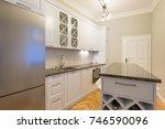 kitchen interior in new... | Shutterstock . vector #746590096