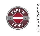 """round """"made in latvia"""" badge...   Shutterstock .eps vector #746590900"""