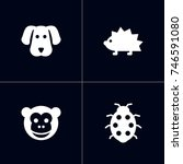 set of 4 alive icons set... | Shutterstock .eps vector #746591080