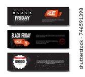 set of black friday sale... | Shutterstock .eps vector #746591398