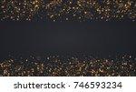 vector modern christmas or 2018 ...   Shutterstock .eps vector #746593234