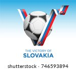 soccer ball with victory...   Shutterstock .eps vector #746593894