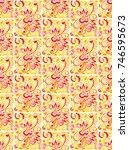 bright exquisite seamless...   Shutterstock .eps vector #746595673