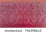 wallet in asian style. red...   Shutterstock . vector #746598613