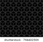 seamless geometry grid graphic... | Shutterstock .eps vector #746602504