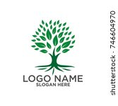 tree logo vector | Shutterstock .eps vector #746604970