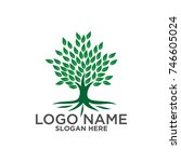tree logo vector | Shutterstock .eps vector #746605024
