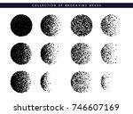 set brush stipple pattern for... | Shutterstock .eps vector #746607169