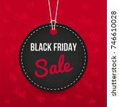 black friday sale price tag ... | Shutterstock .eps vector #746610028