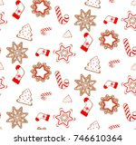 christmas vector endless...   Shutterstock .eps vector #746610364