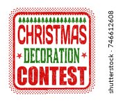 christmas decoration contest... | Shutterstock .eps vector #746612608