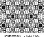 ornament with elements of black ... | Shutterstock . vector #746614423