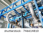 large industrial water... | Shutterstock . vector #746614810