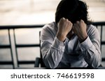business man is stressed from...   Shutterstock . vector #746619598
