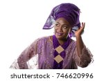 closeup portrait of beautiful... | Shutterstock . vector #746620996