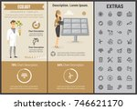 ecology infographic template ... | Shutterstock .eps vector #746621170