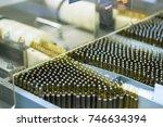 medical vials packaging line.... | Shutterstock . vector #746634394