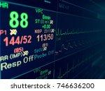vital sign ekg monitor. | Shutterstock . vector #746636200
