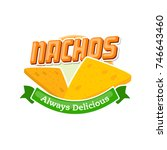 fast food nachos mexican snack...   Shutterstock .eps vector #746643460