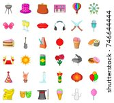 ice cream icons set. cartoon... | Shutterstock .eps vector #746644444