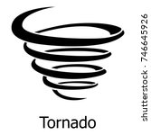 Tornado Icon. Simple...