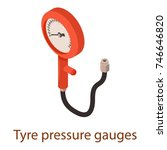 pressure icon. isometric...   Shutterstock .eps vector #746646820