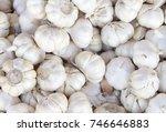 White Garlic Pile Texture....