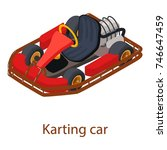 karting car icon. isometric... | Shutterstock .eps vector #746647459
