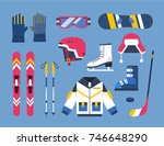 winter sports illustrations | Shutterstock .eps vector #746648290