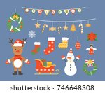 christmas illustration | Shutterstock .eps vector #746648308