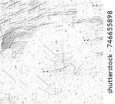 seamless grunge black white.... | Shutterstock . vector #746655898