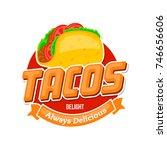 taco icon or logo concept.... | Shutterstock .eps vector #746656606