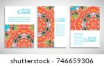 set of a4 cover  abstract... | Shutterstock .eps vector #746659306
