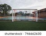 goal in football stadium   Shutterstock . vector #746662630