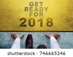 concept for 2018 year  top view ... | Shutterstock . vector #746665246