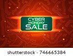 sale technology banner for... | Shutterstock .eps vector #746665384