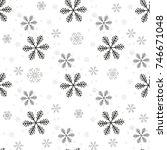 snowflake simple seamless... | Shutterstock .eps vector #746671048