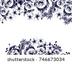 vintage delicate invitation... | Shutterstock . vector #746673034