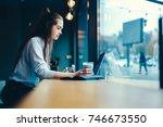 pondering talented graphic... | Shutterstock . vector #746673550