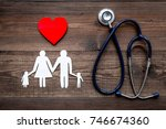 take out health insurance for... | Shutterstock . vector #746674360
