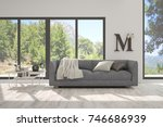 idea of white room with sofa... | Shutterstock . vector #746686939