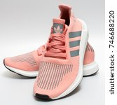 Small photo of BANGKOK, THAILAND - NOVEMBER 1, 2017: Adidas swift run w 2017 sports shoes for running for woman - illustrative editorial