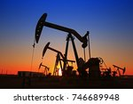 the oil pump  industrial... | Shutterstock . vector #746689948