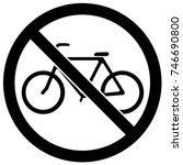 no bicycles sign black and... | Shutterstock .eps vector #746690800