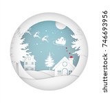 merry christmas and happy new... | Shutterstock .eps vector #746693956