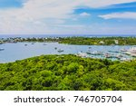 view of hope town harbour from... | Shutterstock . vector #746705704